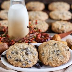 Chewy and wholesome cookie recipe that includes rolled oats, semi-sweet chocolate, coconut and slivered almonds.