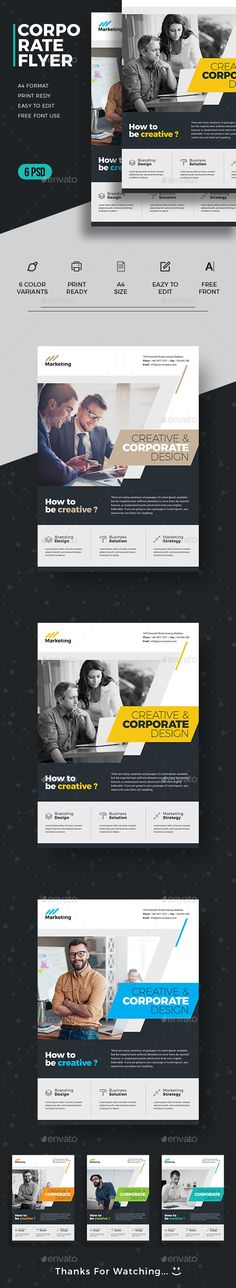 Corporate Flyer by upra Business Flyer / Corporate Flyer. You can use this template for any kind company or business promotion as well as advertising. Ful