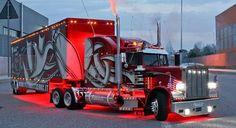 Love this Peterbilt Big Rig Trucks, Show Trucks, Pickup Trucks, Custom Big Rigs, Custom Trucks, Pick Up, Planes, Trailers, Vanz