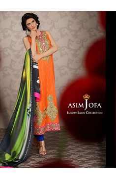 Asim Jofa Luxury Lawn Collection 2014 - Shine Orange Stunning http://www.gulrang.com/dress/index.php?route=product/product&product_id=2229Dress