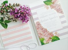 Modern Romantic Floral Bonnie Invitation Set, starting at $100 for 25 sets from Creative Montage