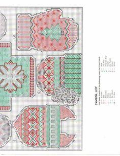 Warm & Cosy Ornaments, plastic canvas, chart & colour list, page 5/5