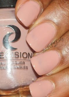 """""""Next up is Sahara Deserted Me.  This is a pinkish nude color. It was a bit sheer so what you see below is about 3 coats. I don't like Visible Nail Line (VNL) so I had to layer till I couldn't see my nail line anymore."""""""