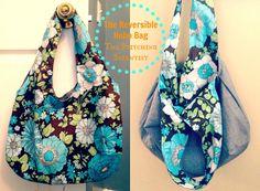 Reversible Hobo Bag Tutorial and Free Pattern