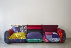 アルフレックス,テキスタイルデザイナー,鈴木マサル This sofa looks so comfy!