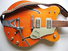 1967 Gretsch Chet Atkins Nashville-  a great vintage guitar complete with hippy strap