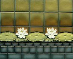 Tile Lotus Tile Frieze 01 | Oak Park Home Hardware