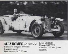 24h LE MANS 1933 - ALFA ROMEO 8c 2300  #15 - Franco Cortese - Louis Chiron