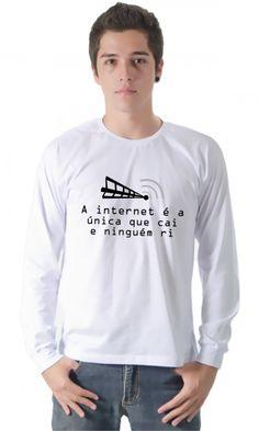 Camiseta - Internet por apenas R$44.90