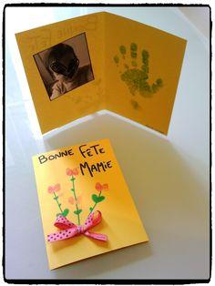 carte pour la fete des mamies, fête des mamans, cadeaux à offrir, enfant Gift Packaging, Crafts For Kids, Activities, Halloween, Gifts, Grands Parents, 1 An, Occasion, Board