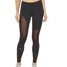 Bluester Women Mesh Yoga Leggings, Sports Gym Running Fitness/ Pants Athletic Trouser: Amazon.co.uk: Clothing