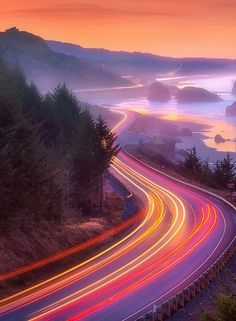 Pistol River on the Southern Oregon Coast before sunrise.my favorite road to have a road trip Time Lapse Photography, Nature Photography, Sunrise Photography, Photography Gear, Beautiful World, Beautiful Places, Southern Oregon Coast, Light Trails, Ushuaia