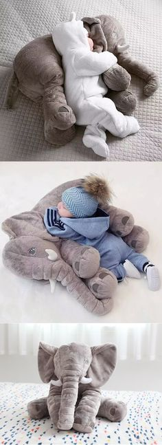 Giant Elephant Baby Pillow - - You and your little one will absolutely love this amazing Baby Elephant Pillow. It also makes the perfect baby shower gift! Baby Shower Niño, Shower Bebe, Baby Showers, Diy Shower, Elephant Pillow, Baby Elephant Nursery, Baby Nursery Ideas For Boy, Baby Shower Gifts For Boys, Stuffed Elephant For Baby
