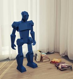 DIY Papercraft 3D model Robot. Decorate your interior with this big Robot paper model! Make it yourself! Its really fun! You are buying the digital instructions & templates only, NOT THE PHYSICAL MODEL! The templates are supplied as 23 page PDF and that is available as an instant