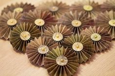 Handmade Paper Rosette Vintage Style by PinkdotsCreate on Etsy, $11.99