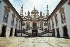 palacio de mateus vila real portugal Vila Real Portugal, Portugal Travel, Baroque, Old Mansions, Big Country, Landmark Hotel, Algarve, Where To Go, Castle