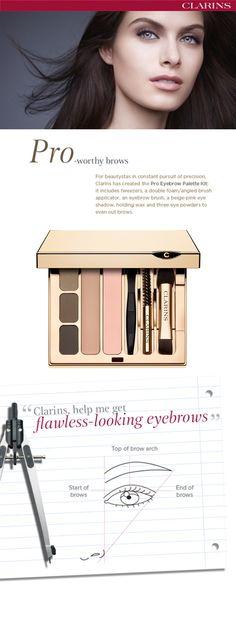 Für perfekt geformte und betonte Augenbrauen.. #clarins #makeup