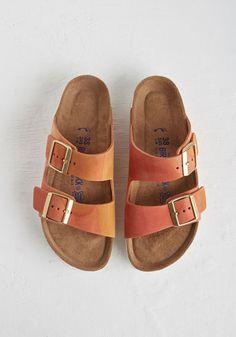 RTV CLOSED (4/16): Birkenstock Strappy Camper Sandal in Sunset | Mod Retro Vintage Sandals | ModCloth.com