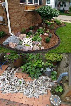 44 magical side yard and backyard gravel garden design ideas 44 - Outdoor Diy Outdoor Landscaping, Front Yard Landscaping, Backyard Landscaping, Outdoor Gardens, Landscaping Ideas, Inexpensive Landscaping, Landscaping Blocks, Landscaping Software, Rocks In Landscaping
