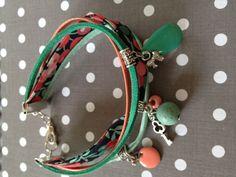 Bracelet liberty corail vert d'eau