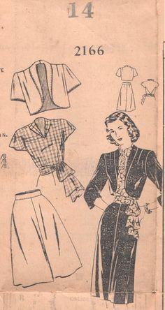 Super Vintage 1940s New Style 2166 Skirt by NostalgieVintage