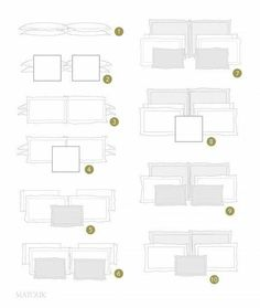 Bed pillow arrangments
