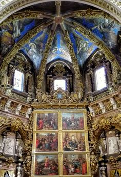 Amazing renaissance frescoes in the Valencia Cathedral