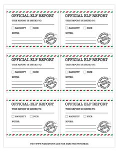 Official Elf Report - Free Printable Elf Report Cards - Pjs and Paint Christmas Crafts For Gifts, Christmas Stuff, Christmas Ideas, Printable Letters, Printable Cards, Elf Letters, Naughty Kids, Report Cards, Advent Ideas