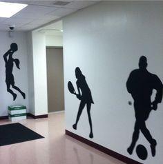 Sports mural