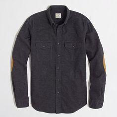 <ul><li>Cotton.</li><li>Regular fit.</li><li>Button-down collar.</li><li>Faux suede elbow patches.</li><li>Dry clean.</li><li>Import.</li></ul>