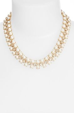 Free shipping and returns on kate spade new york 'twinkling fête' collar necklace at Nordstrom.com. Radiant faux pearls and princess-cut Swarovski crystal fill this sophisticated collar necklace with sparkle.