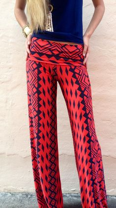 Crimson Tribal Exuma Pants | Ole Miss Rebels | Game Day