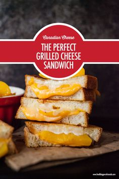There are so many fabulous Canadian Cheeses that can take your grilled cheese sandwiches to the next flavour level. Canadian Cheese, Canadian Food, Perfect Grilled Cheese, Kitchen Science, Canada Day, Kid Friendly Meals, Cornbread, Grilling, Sandwiches