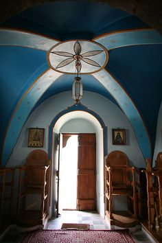 #Monastery of Profitis Ilias - #Santorini, #Greece #Byzantine architecture style #church