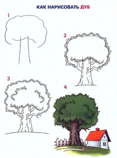 Step by step draw tree easily Cute Easy Drawings, Art Drawings For Kids, Pencil Art Drawings, Doodle Drawings, Colorful Drawings, Drawing For Kids, Doodle Art, Drawing Sketches, Art For Kids