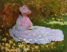 Monet, The Reader also known as Springtime, 1872--may be Camille, Monet's wife.