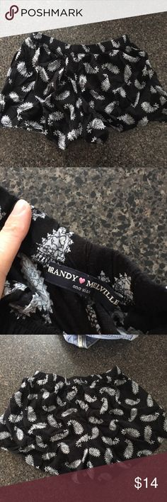 """BM shorts Brandy Melville comfy shorts , black and white pattern, """"one size"""", brand new condition Brandy Melville Shorts"""