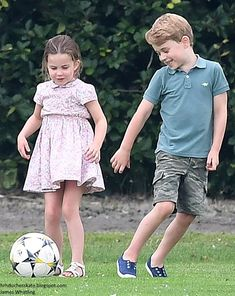 Kate Middleton's Kids Prince George and Princess Charlotte Play Soccer During Royal Charity Polo Match — See Pics!