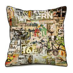 Funda cojín COLLAGE TWO algodón 45x45 (Cojines y fundas) - Sillas de diseño, mesas de diseño, muebles de diseño, Modern Classics, Contemporary Designs...