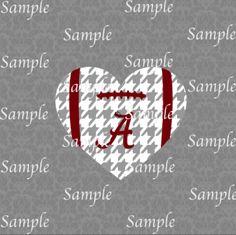 Alabama Logo, Alabama Shirts, Alabama Crimson Tide, Vinyl Crafts, Vinyl Projects, Alabama Crafts, Football Heart, Silhouette Projects, Silhouette Cameo