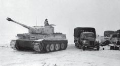 Panthers and Tigers from the 503rd Heavy Tank Battalion, early 1944