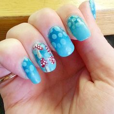 """""""Close up of my #toadstoolnails ♡♡"""""""