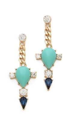 i'm going through a long earring renaissance right now.  Club Monaco Turquoise Spike Earrings