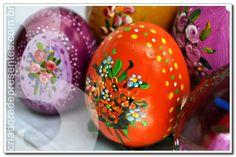Cascas de Ovos Pintadas à Mão