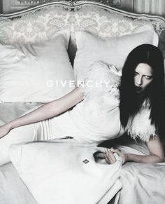Adriana Lima trades her usual sexy Victoria's Secret look for a high fashion sharp stare in the Givenchy F/W 2009 ad campaign, shot by Mert Alas and Marcus Piggott
