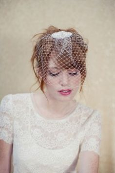 simple and elegant 'Sienna' birdcage veil  http://loboheme.mybigcommerce.com/products/Sienna-Birdcage-Veil.html