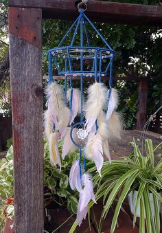 Blue and Blush Mobile Dream Catcher