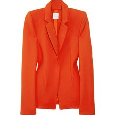 Dion Lee Form brushed stretch-wool blazer ($1,105) ❤ liked on Polyvore featuring outerwear, jackets, blazers, tops, coats, red jacket, red blazer, blazer jacket, red blazer jacket and dion lee