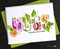 Altenew Rose Flurries 3D + Caps Bold Alphabet Dies - Jennifer McGuire