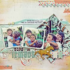 BC | Scrapbook Layout - Amor de Irmãos                              …